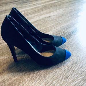 Bershka blue and black heels 👠